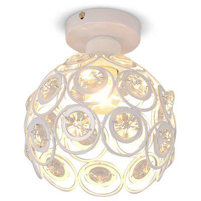 YQ6623 - 1X  White Crystal Ceiling Light 220 - 240V
