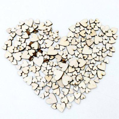 Heart-shaped Natural Wood Button