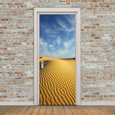 DM027 3D Self Adhesive Desert Landscape Door Sticker