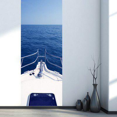 DM056 3D Self Adhesive Motor Yacht in Ocean Door Sticker