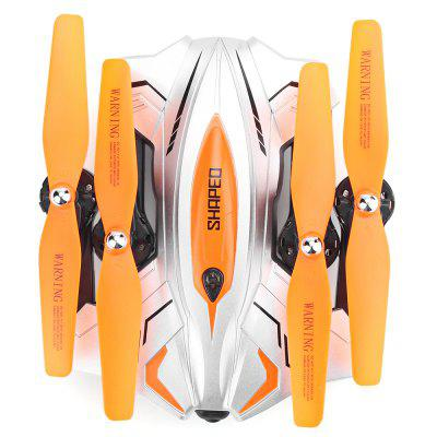 TKKJ TK111W Foldable RC Quadcopter - RTFRC Quadcopters<br>TKKJ TK111W Foldable RC Quadcopter - RTF<br><br>Age: Above 14 years old<br>Battery: 3.7V 1000mAh lithium-ion<br>Brand: TKKJ<br>Built-in Gyro: 6 Axis Gyro<br>Camera Pixels: 0.3MP<br>Channel: 4-Channels<br>Charging Time.: 110mins<br>Compatible with Additional Gimbal: No<br>Control Distance: 50-100m<br>Detailed Control Distance: 80M<br>Features: WiFi FPV, WiFi APP Control, Radio Control, Camera, Brushed Version<br>Flying Time: 6-7mins<br>FPV Distance: about 25m<br>Functions: Level Calibration, WiFi Connection, With light, Waypoints, Headless Mode, Gravity Sense Control, Forward/backward, Emergency Landing, Air Press Altitude Hold, Left / Right Hand Throttle Switch, Up/down, Low-voltage Protection, One Key Automatic Return, One Key Landing, One Key Taking Off, 3D rollover, Sideward flight, Slow down, Speed up, Turn left/right<br>Kit Types: RTF<br>Level: Beginner Level<br>Model: TK111W<br>Model Power: Built-in rechargeable battery<br>Motor Type: Brushed Motor<br>Package Contents: 1 x Quadcopter ( Battery Included ), 1 x Transmitter, 1 x Mobile Phone Holder, 1 x USB Cable, 1 x Screwdriver, 4 x Spare Propeller, 1 x Pack of Screws, 1 x English Manual<br>Package size (L x W x H): 38.90 x 11.40 x 24.00 cm / 15.31 x 4.49 x 9.45 inches<br>Package weight: 1.2900 kg<br>Product size (L x W x H): 36.20 x 36.20 x 8.50 cm / 14.25 x 14.25 x 3.35 inches<br>Product weight: 0.9500 kg<br>Radio Mode: Mode 1 &amp; Mode 2 ?Left &amp; Right-hand Throttle?,WiFi APP<br>Remote Control: 2.4GHz Wireless Remote Control<br>Sensor: Barometer<br>Size: Large<br>Transmitter Power: 4 x 1.5V AA battery(not included)<br>Type: Outdoor, Quadcopter<br>Video Resolution: 720P HD