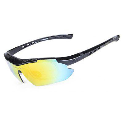 Buy BLACK OBALAY SP0890 5-replacement-lens Polarized Cycling Glasses for $15.93 in GearBest store