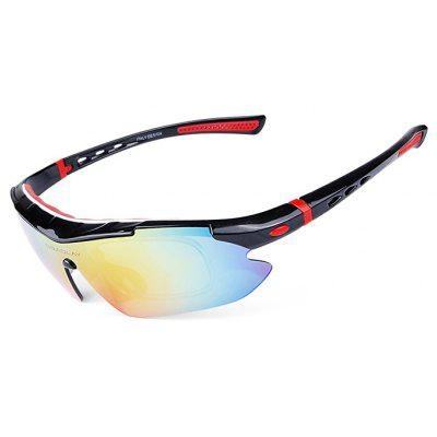 Buy BLACK AND RED OBALAY SP0890 5-replacement-lens Polarized Cycling Glasses for $15.93 in GearBest store