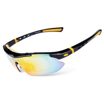 Buy YELLOW AND BLACK OBALAY SP0890 5-replacement-lens Polarized Cycling Glasses for $15.93 in GearBest store