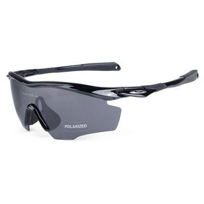 Buy BLACK OBALAY SP0891 5-replacement-lens Polarized Cycling Glasses for $19.33 in GearBest store