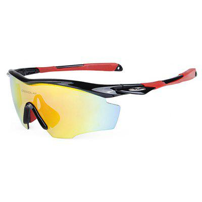 Buy BLACK AND RED OBALAY SP0891 5-replacement-lens Polarized Cycling Glasses for $19.33 in GearBest store