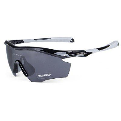 Buy BLACK AND GREY OBALAY SP0891 5-replacement-lens Polarized Cycling Glasses for $19.33 in GearBest store