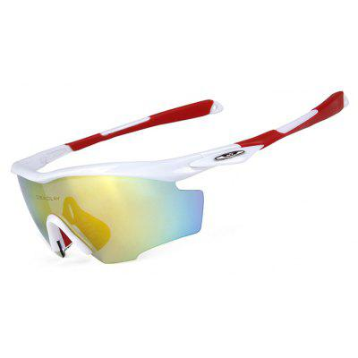 Buy RED WITH WHITE OBALAY SP0891 5-replacement-lens Polarized Cycling Glasses for $19.33 in GearBest store