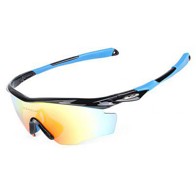 Buy BLACK AND BLUE OBALAY SP0891 5-replacement-lens Polarized Cycling Glasses for $19.33 in GearBest store