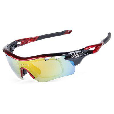 Buy BLACK AND RED OBALAY SP0896 5-replacement-lens Polarized Cycling Glasses for $16.67 in GearBest store