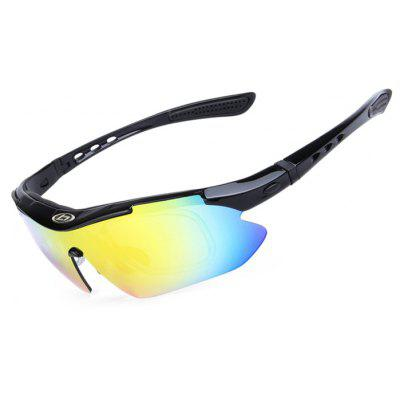 Buy BLACK OBALAY SP0868 5-replacement-lens Polarized Cycling Glasses for $14.70 in GearBest store