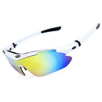 Buy WHITE OBALAY SP0868 5-replacement-lens Polarized Cycling Glasses for $14.70 in GearBest store