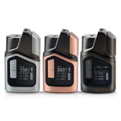GTRS GT150 Box ModTemperature Control Mods<br>GTRS GT150 Box Mod<br><br>Accessories type: MOD<br>APV Mod Wattage: 150W<br>APV Mod Wattage Range: 101-150W<br>Battery Capacity: 4000mAh<br>Material: Zinc Alloy<br>Mod: Temperature Control Mod,VV/VW Mod<br>Package Contents: 1 x GT150 Box Mod, 1 x Extra Screen, 1 x US Standard Adapter, 1 x USB Cable, 1 x English User Manual, 1 x Screen Clean Cloth<br>Package size (L x W x H): 17.00 x 8.00 x 5.00 cm / 6.69 x 3.15 x 1.97 inches<br>Package weight: 0.4780 kg<br>Product size (L x W x H): 7.80 x 4.60 x 3.20 cm / 3.07 x 1.81 x 1.26 inches<br>Product weight: 0.2890 kg<br>Temperature Control Range: 200 - 600 Deg.F / 100 - 300 Deg.C<br>Type: Electronic Cigarettes Accessories