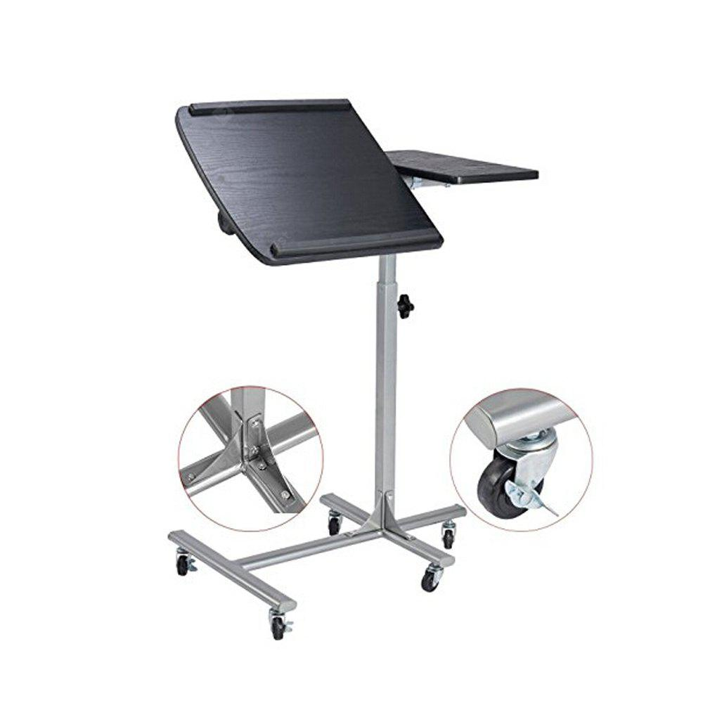 Laptop Desk Computer Stand Table Computer Cart with Wheels