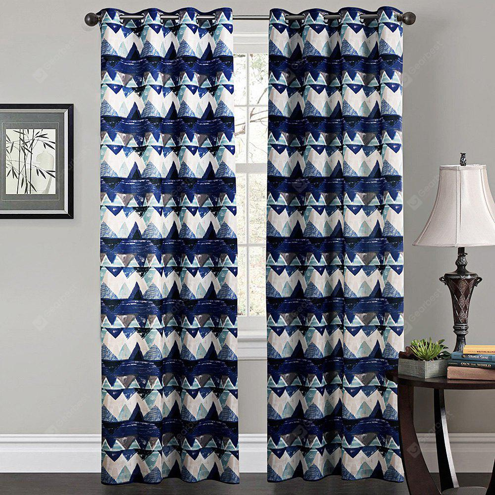 Ink-jet Printing Diamond Pattern Window Curtains 52 x 63 inch
