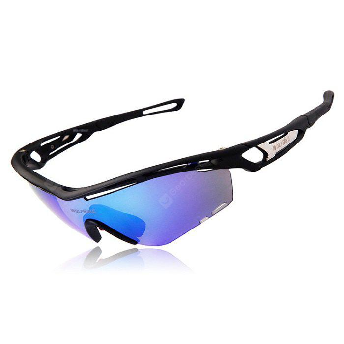 WOLFBIKE BYJ - 015 3 Lenses Polarized Cycling Glasses