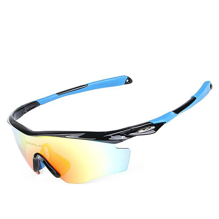 BLACK AND BLUE OBALAY SP0891 5-replacement-lens Polarized Cycling Glasses