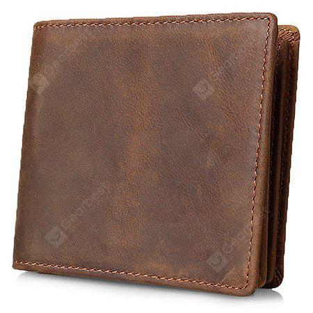 Classic Top Calfskin Leather Wallet for Men