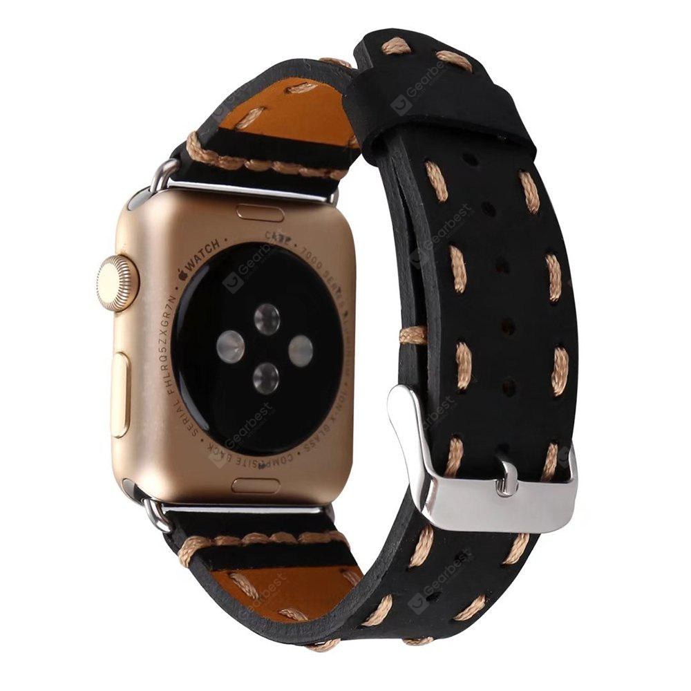 Apple Watch için 38mm Cowhide Deri Saat Band