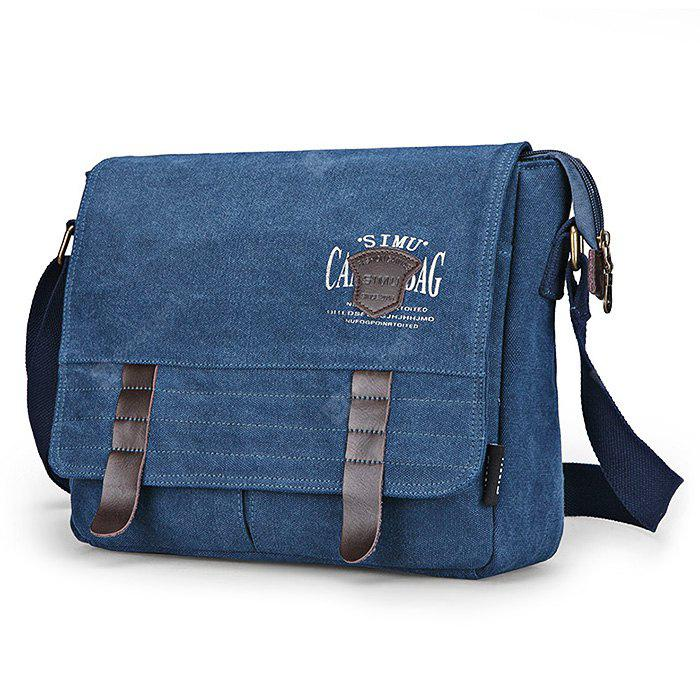 BLUE SIMU Retro Nylon Canvas Business Shoulder Bag