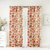 Ink-jet Printing Sweet Flowers Window Curtains 52 x 63 inch - COLORMIX