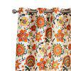 Ink-jet Printing Sweet Flowers Window Curtains 52 x 96 inch - COLORMIX