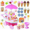 Mini Simulation Candy Ice Cream Trolley Shop - PINK