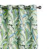 Ink-jet Printing Fresh Leaves Window Curtains 52 x 96 inch - COLORMIX