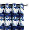 Ink-jet Printing Diamond Pattern Window Curtains 52 x 63 inch - COLORMIX