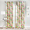 Ink-jet Printing Blooming Flowers Window Curtains 52 x 63 inch - COLORMIX