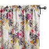Ink-jet Printing Floral Window Curtains 52 x 63 inch - COLORMIX