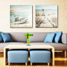 Happy Art Canvas Oil Painting Seaview Hand Painted Home Decor