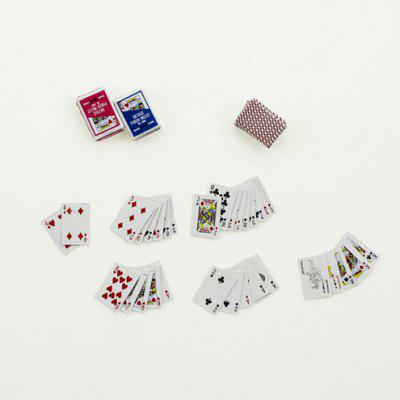 1:12 Scale Doll House Miniature Playing Card Toy SetPretend Play<br>1:12 Scale Doll House Miniature Playing Card Toy Set<br><br>Age: Above 3 Years<br>Material: Paper<br>Package Contents: 1 x Set of Playing Card Toys<br>Package size (L x W x H): 3.00 x 3.00 x 2.00 cm / 1.18 x 1.18 x 0.79 inches<br>Package weight: 0.0360 kg<br>Product size (L x W x H): 1.60 x 1.10 x 0.70 cm / 0.63 x 0.43 x 0.28 inches<br>Product weight: 0.0050 kg<br>Type: Pretend Play