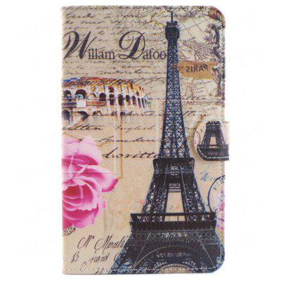 Iron Tower Diseño Smart PU Funda de silicona para Samsung Galaxy Tab 4 T230