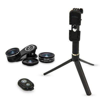 Topaul MSTK003 Phone Lens KitPhone Lenses<br>Topaul MSTK003 Phone Lens Kit<br><br>Brand: topaul<br>Lens type: Fish-Eye Lens,Macro Lens,Wide-Angle-Lens<br>Magnification ?Fish eye Lens ): 198 degree<br>Magnification ?Macro Lens ): 15X<br>Magnification ?Wide Angle Lens ): 0.36X<br>Material: Optical glass, Metal<br>Package Contents: 1 x Fisheye Lens, 1 x Macro Wide Angle Lens, 1 x Selfie Stick, 1 x Tripod, 1 x Bluetooth Shutter Adapter, 1 x Pouch, 1 x Clip, 1 x Pouch, 2 x Lens Case<br>Package size (L x W x H): 17.00 x 14.00 x 5.00 cm / 6.69 x 5.51 x 1.97 inches<br>Package weight: 0.2400 kg<br>Product weight: 0.1640 kg