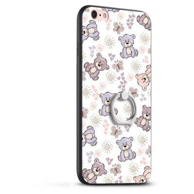 Buy COLORMIX Bear Painting Ring Holder TPU Phone Case for iPhone 6 / 6s for $2.08 in GearBest store