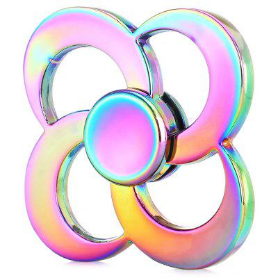 Rainbow Four-leaf Fortune Zinc Alloy Fidget Spinner