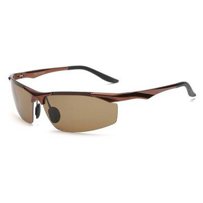 Buy TEA-COLORED Karenheather 2206 Male UV400 Polarized Cycling Glasses for $9.32 in GearBest store