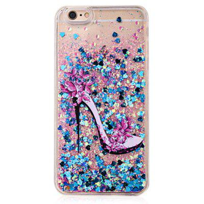 Buy COLOFUL Attractive Heels Blue Glitter Powder Phone Cover for iPhone 6 Plus / 6S Plus for $4.06 in GearBest store