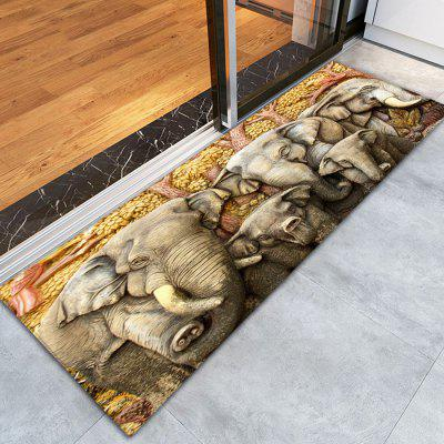 Buy COLORFUL 3D Printing African Elephant Pattern Non-Slip Floor Carpet for $14.38 in GearBest store