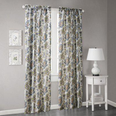 Ink-jet Printing Pretty Flowers Window Curtains 52 x 63 inch