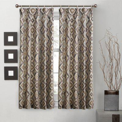Ink-jet Printing Geometric Pattern Window Curtains 52 x 63 inch