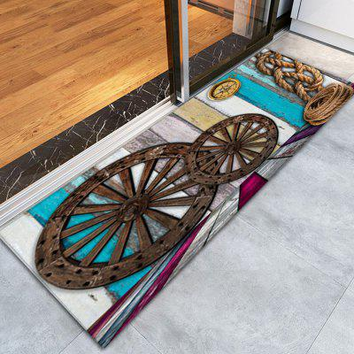 Buy COLORMIX 3D Printing Retro Wheel Pattern Non-Slip Floor Carpet for $12.58 in GearBest store