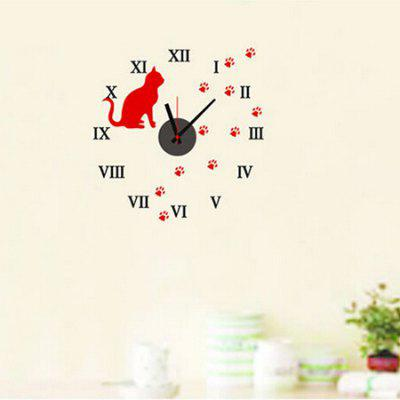 Clock Removable DIY Home Decor Wallpaper Wall Sticker