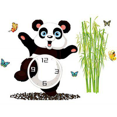 Buy COLORMIX Panda Style Wall Clock Sticker for $9.50 in GearBest store