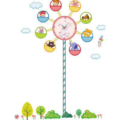 Ferris Wheel Style Wall Clock Sticker