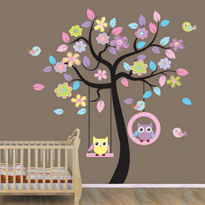 Flower Tree PVC Transparent Film Home Decor Wall Sticker