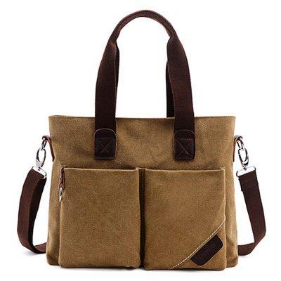 Male Leisure Retro Canvas Bolsa de grande capacidade