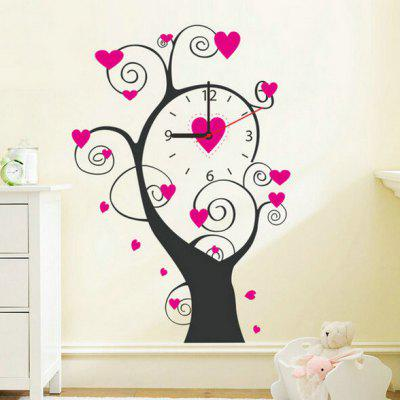 Loving Tree Style Wall Clock Sticker