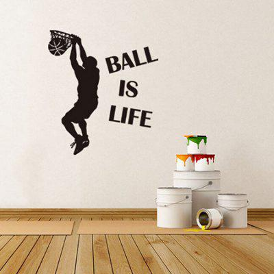 DIY Wallpaper Basketball Wall Sticker for Creative Decoration